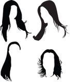 женщины силуэта волос Стоковые Фото