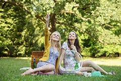 2 женщины смотря природу Стоковое Изображение