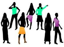 женщины способа молодые Бесплатная Иллюстрация