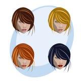 женщины стиля причёсок цвета Стоковая Фотография