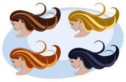 женщины стиля причёсок цвета Стоковые Фото