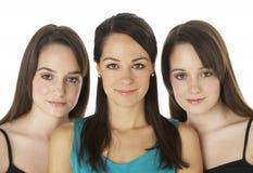 женщины студии 3 портрета молодые Стоковое Изображение