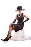 женщины стула сидя Стоковые Изображения