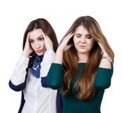 2 женщины с головной болью Стоковая Фотография RF