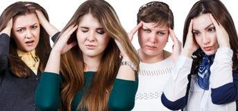 2 женщины с головной болью Стоковое Изображение