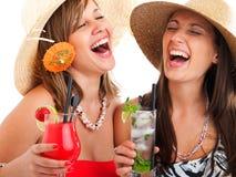Женщины с коктеилями Стоковое Фото
