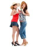 Женщины с коктеилями Стоковая Фотография
