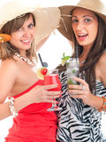 Женщины с коктеилями Стоковая Фотография RF