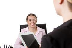 Женщины с компьютером таблетки Стоковое Изображение RF
