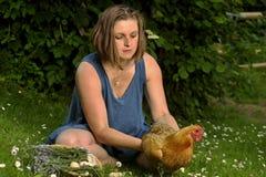Женщины с птицой стоковое фото