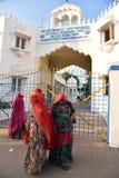 Женщины с традиционным сари стоковые изображения