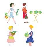 Женщины с ходить по магазинам овощей Стоковые Фотографии RF