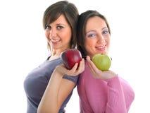 Женщины с яблоками Стоковые Фото