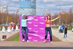 2 женщины танцуют современный танец Стоковое Изображение RF