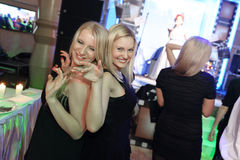 Женщины танцуя на партии Стоковая Фотография RF
