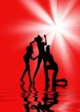 женщины танцы Стоковые Фотографии RF