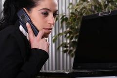 женщины телефона дела Стоковые Фото