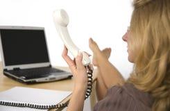 женщины телефона Стоковая Фотография RF