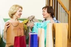 Женщины тратя их свободное время дома Стоковое Изображение