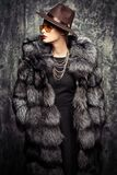 Женщины фасонируют на зима стоковые изображения rf