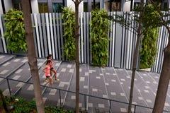 Женщины фитнеса бежать шаги Стоковое Изображение RF