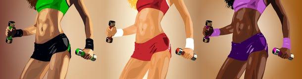 Женщины фитнеса иллюстрация вектора
