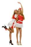 женщины формы 2 нюни costume масленицы Стоковые Фотографии RF