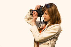 женщины фотографа Стоковое Фото