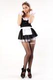 женщины французской горничной сексуальные молодые Стоковое фото RF