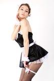 женщины французской горничной сексуальные молодые Стоковые Изображения RF