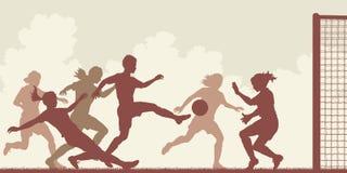 Женщины футбола иллюстрация штока