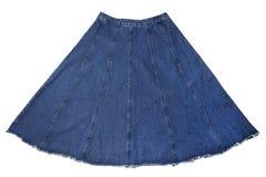 женщины юбки джинсовой ткани s Стоковая Фотография
