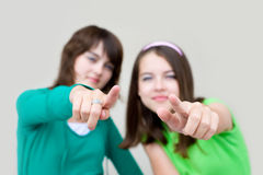 женщины 2 детеныша Стоковая Фотография