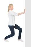 женщины copyspace шикарные нажимая стоковое изображение rf