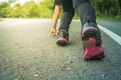 Женщины jogging для здоровья Стоковое Изображение