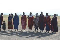 женщины masai Африки mara Стоковая Фотография RF