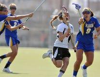 женщины ncaa s lacrosse нестрогие Стоковое Изображение RF