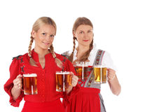 Женщины Oktoberfest с пивом Стоковое Изображение RF