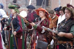 женщины pavia landsknechts сражения стоковое фото rf