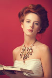 Женщины Redhead edwardian Стоковое Фото