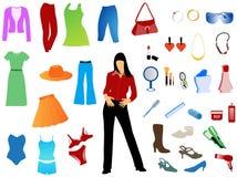 женщины s установленные Стоковое Изображение RF