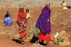 женщины samburu стоковые фотографии rf