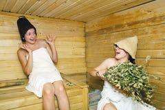 женщины sauna стоковая фотография