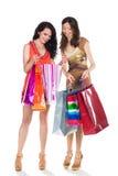 2 женщины shooping Стоковое Изображение RF