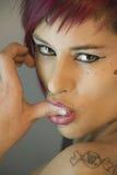 женщины shuck перста Стоковое Изображение