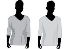женщины vneck рубашки Стоковые Изображения