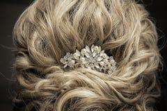 женщины wedding стиль причёсок Стоковые Изображения RF