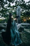 Женщин-шаман с рожками Стоковое фото RF