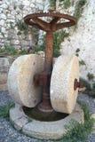 Жернова Vingate прованские для отжимать оливки Стоковое Изображение RF