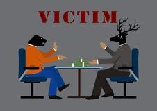 Жертва и дело иллюстрация вектора